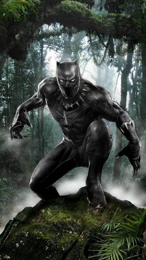 Wakanda Black Panther in Jungle iPhone Wallpaper