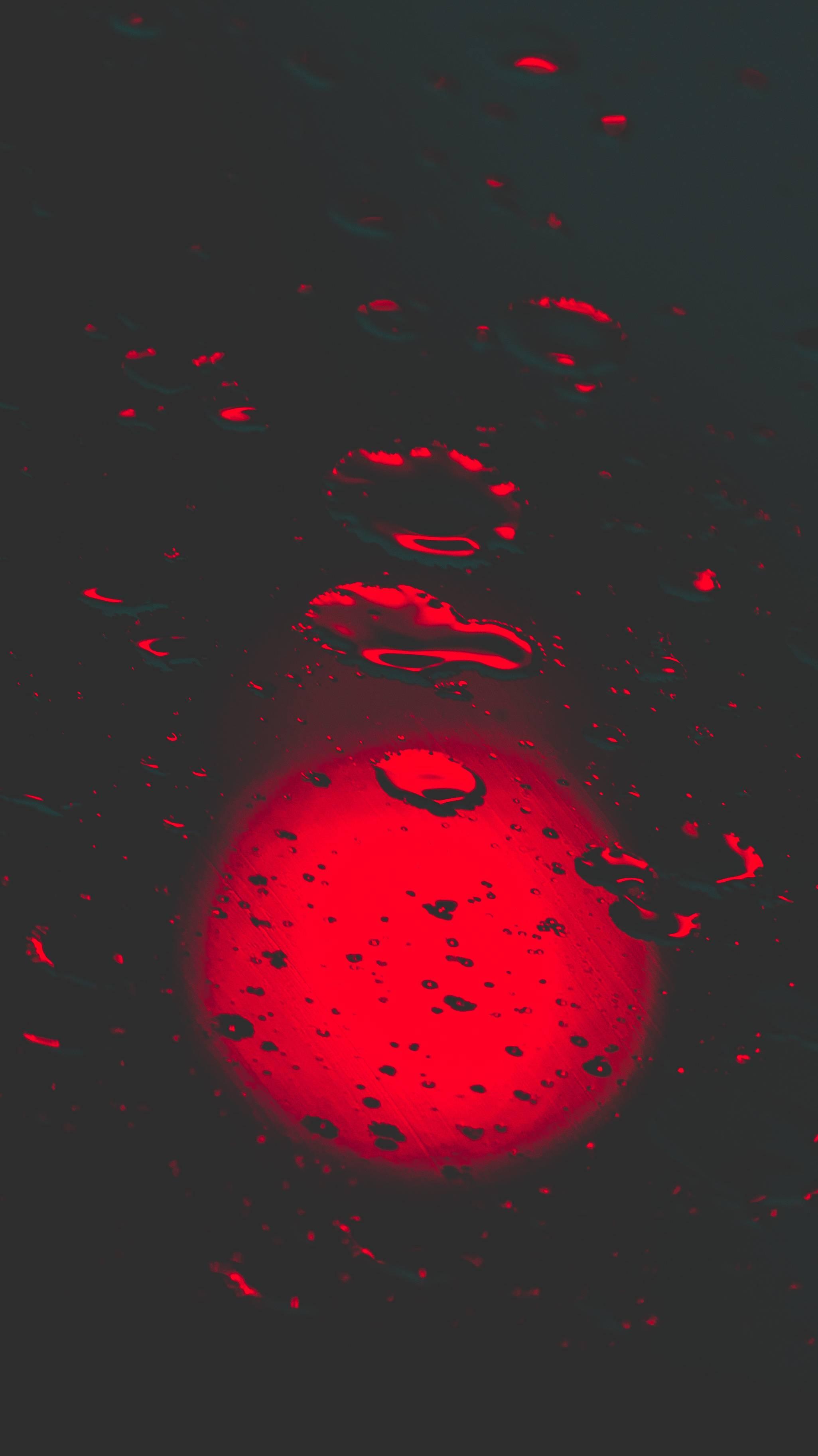 Water Drop Red Bokeh iPhone Wallpaper
