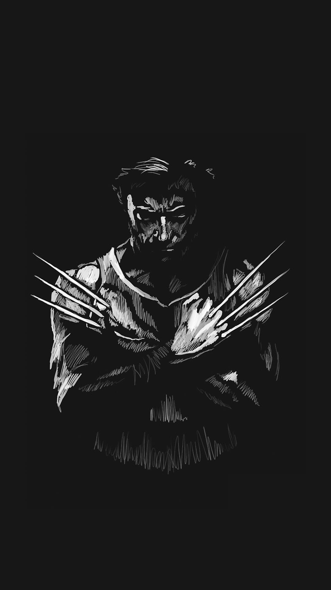 Wolverine Logan Minimal iPhone Wallpaper