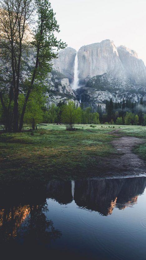 Yosemite Valley Lake iPhone Wallpaper