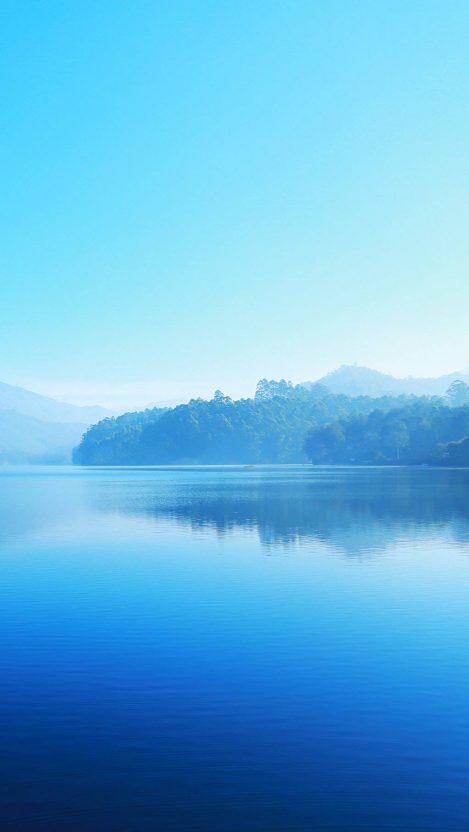 Beautiful Lake Blue Nature iPhone Wallpaper