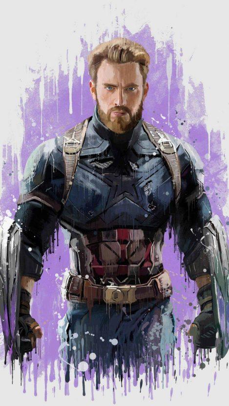 Captain America Avengers Art iPhone Wallpaper