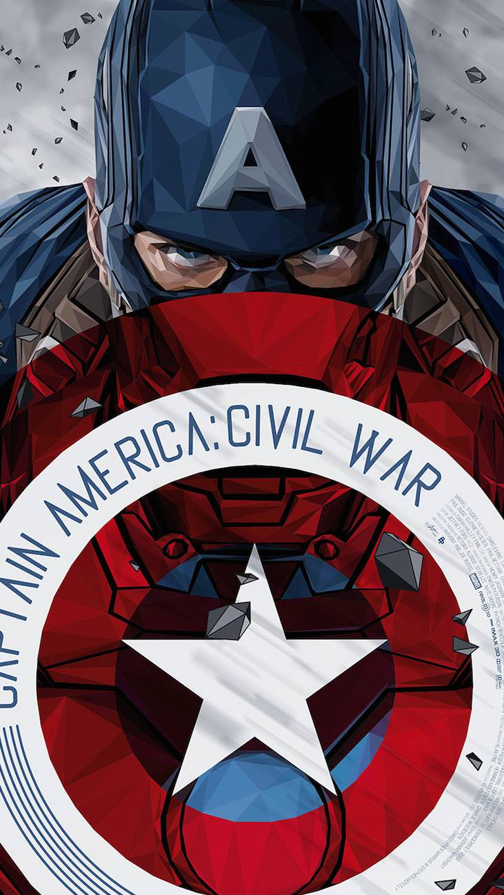 Captain America Civil War Art iPhone Wallpaper