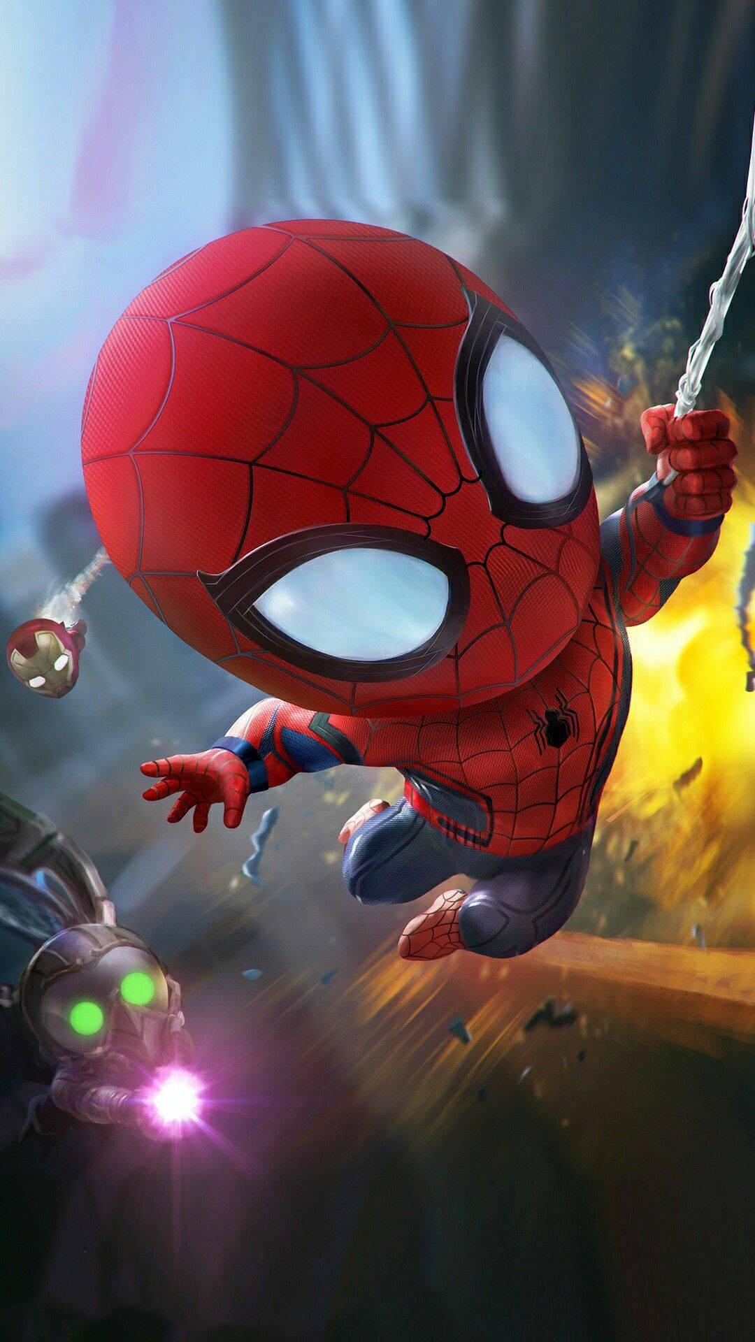 Cute Spiderman Avengers iPhone Wallpaper