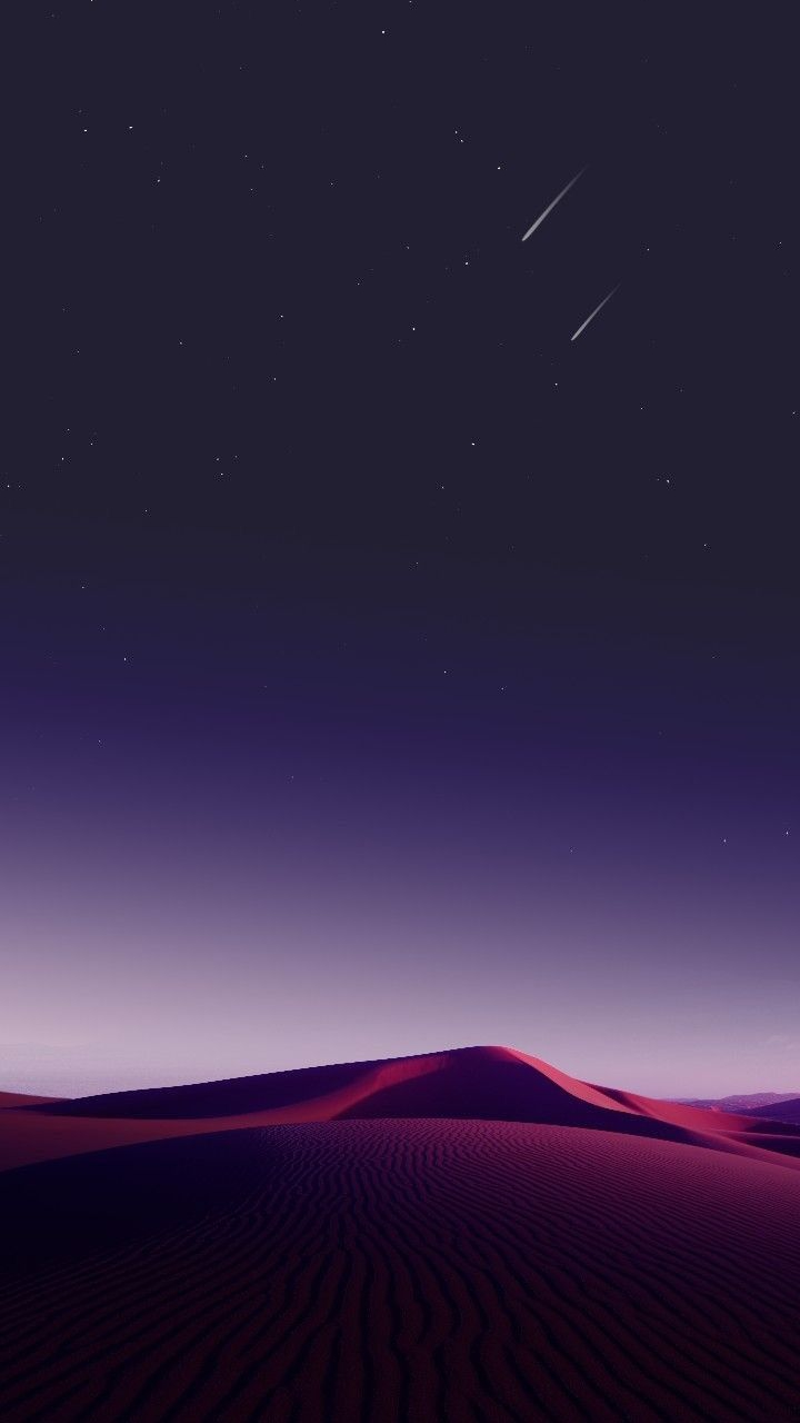 Desert Sky Night Stars IPhone Wallpaper