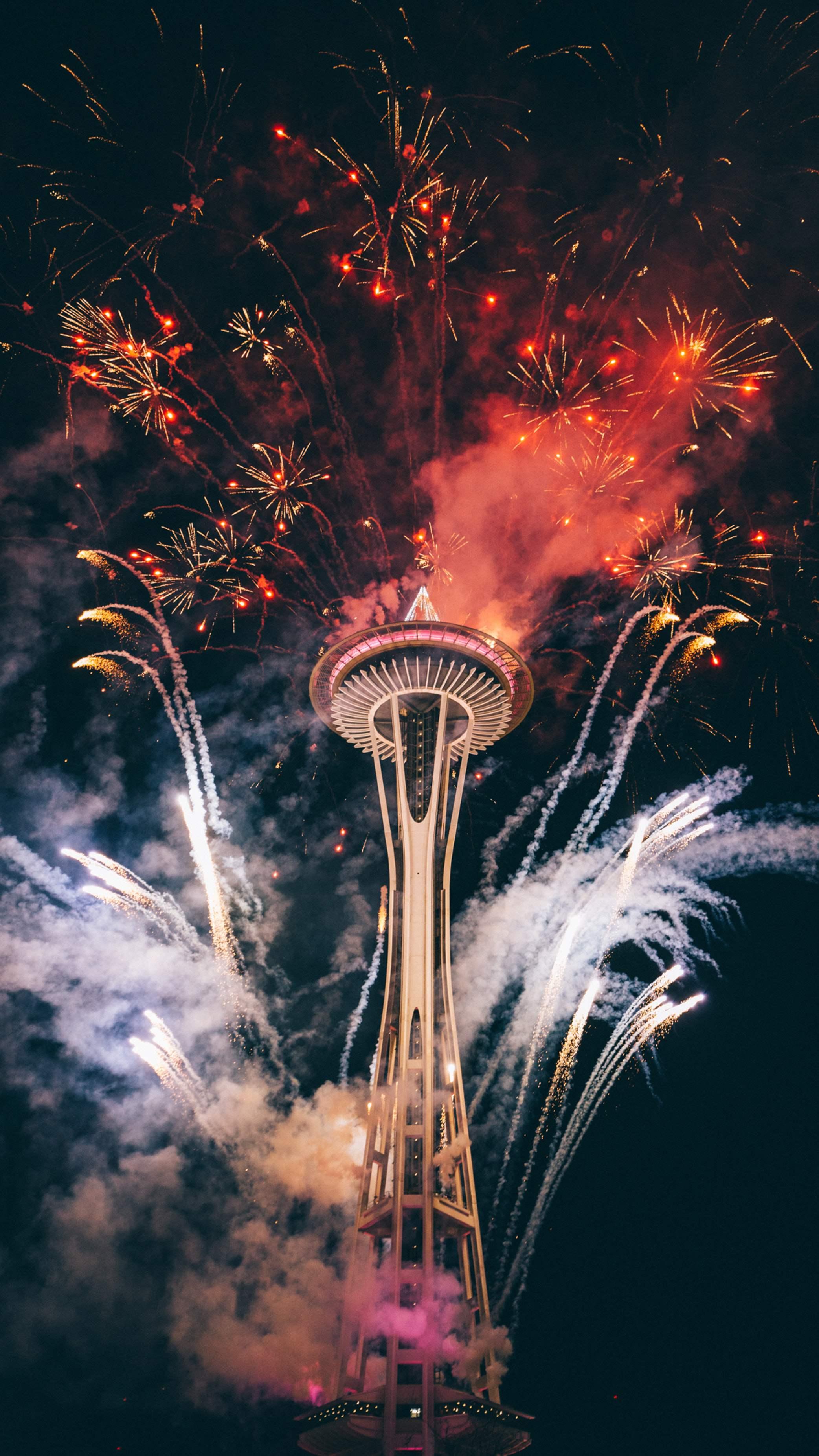 Fireworks Celebration New Year iPhone Wallpaper