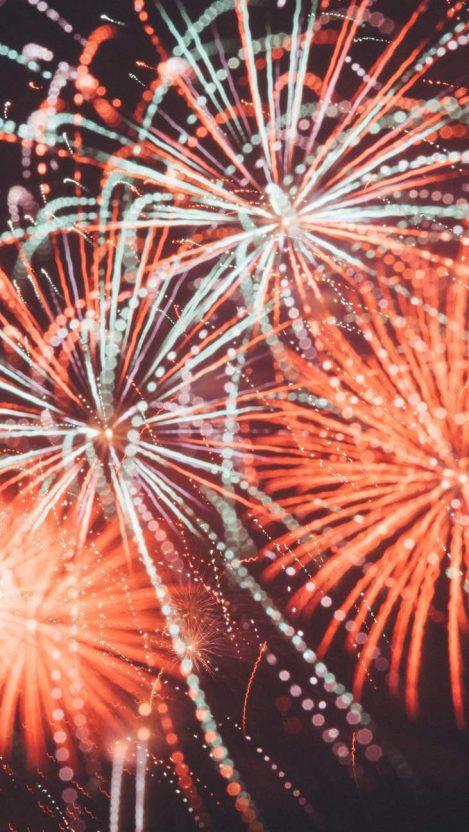 Fireworks New Year Celebration iPhone Wallpaper