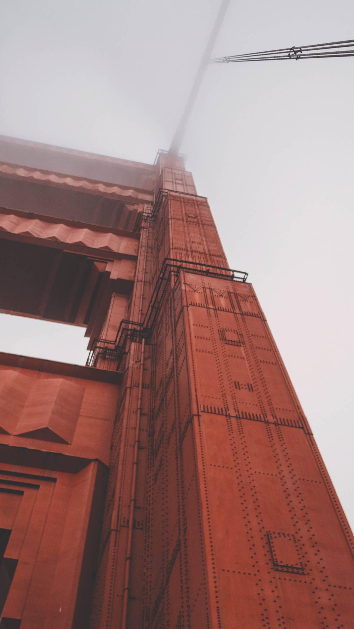 Golden Gate Bridge Mist Sky iPhone Wallpaper