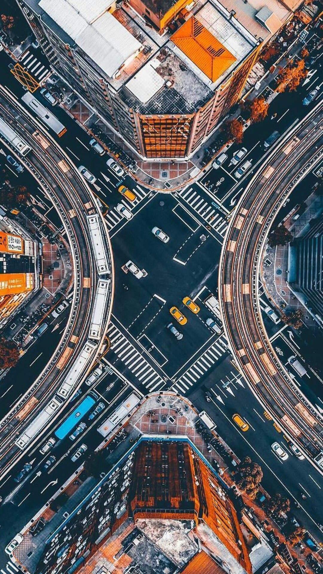 Hong Kong City Aerial View iPhone Wallpaper