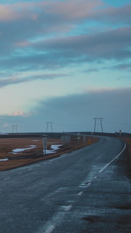 Jökulsárlón Iceland Road iPhone Wallpaper