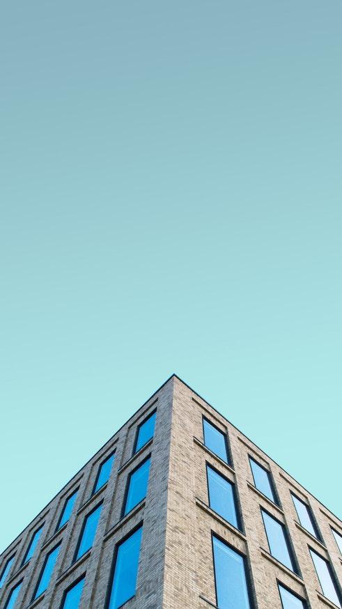 Minimal Building Sky Windows iPhone Wallpaper