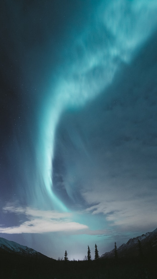 Nothern Light Aurura Sky Nature iPhone Wallpaper