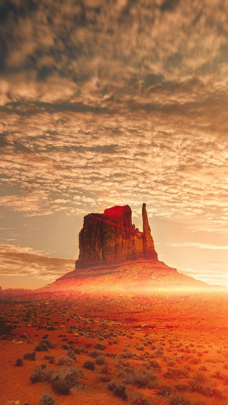 Oljato Monument Valley United States iPhone Wallpaper