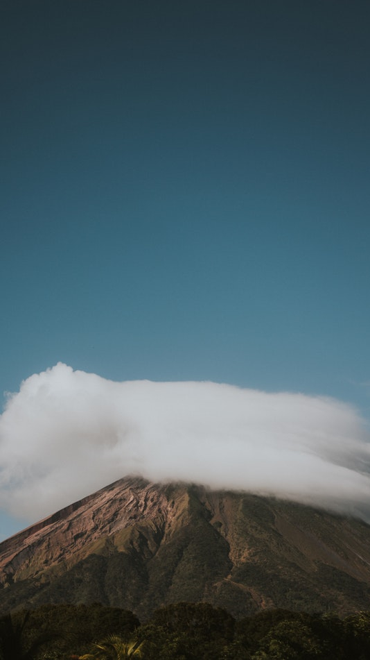 Ometepe Nicaragua Mountain Clouds iPhone Wallpaper