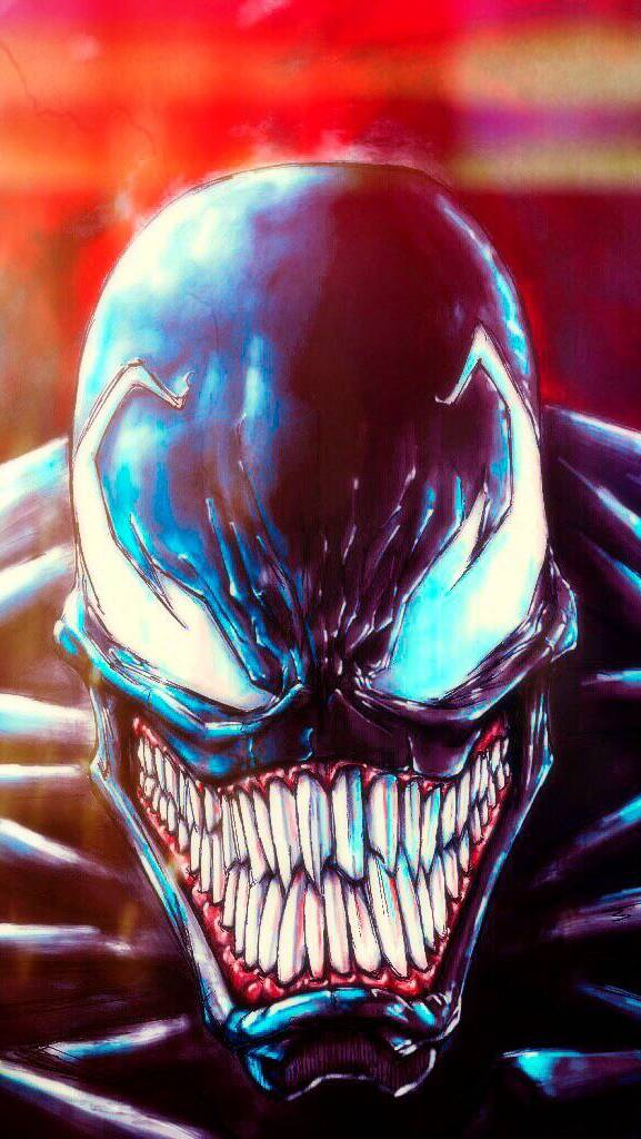 The Venom Scary Face iPhone Wallpaper