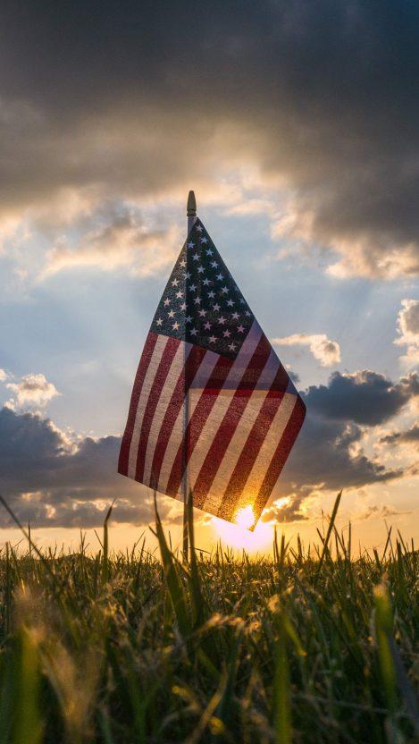 America Flag iPhone Wallpaper