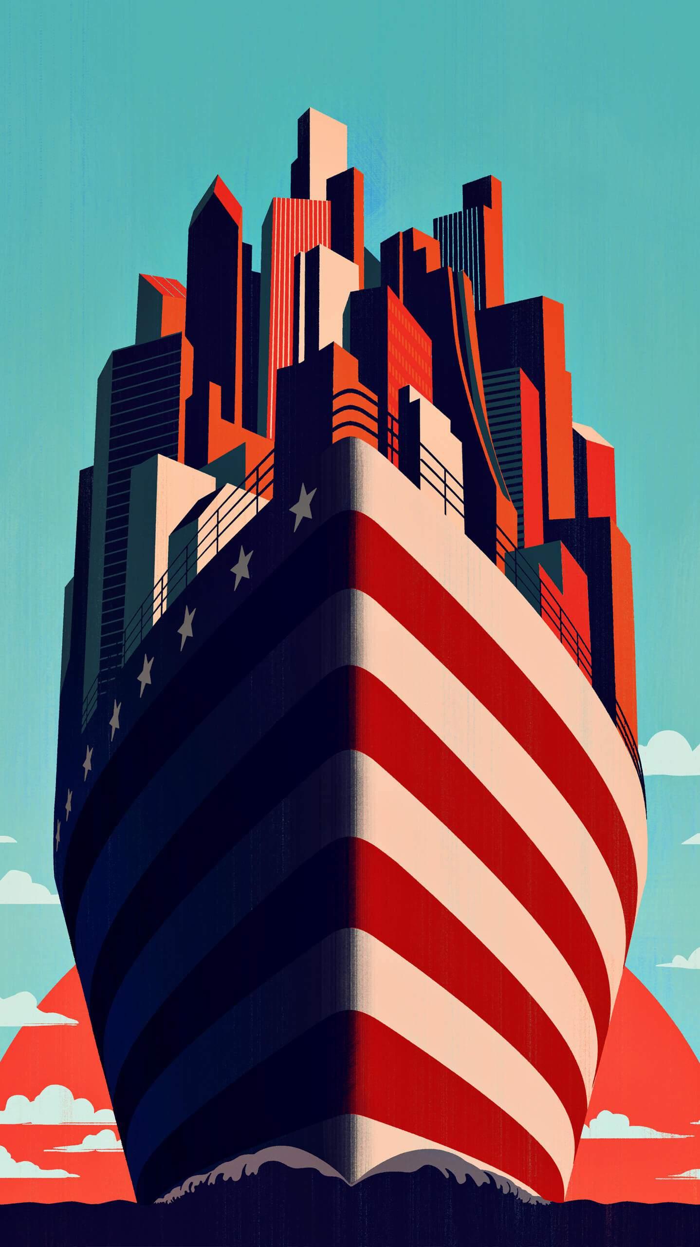 American New Horizon iPhone Wallpaper