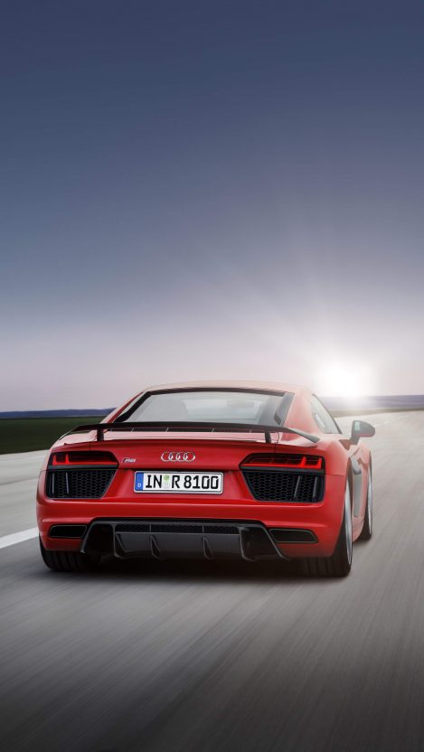 Audi R8 Speed iPhone Wallpaper