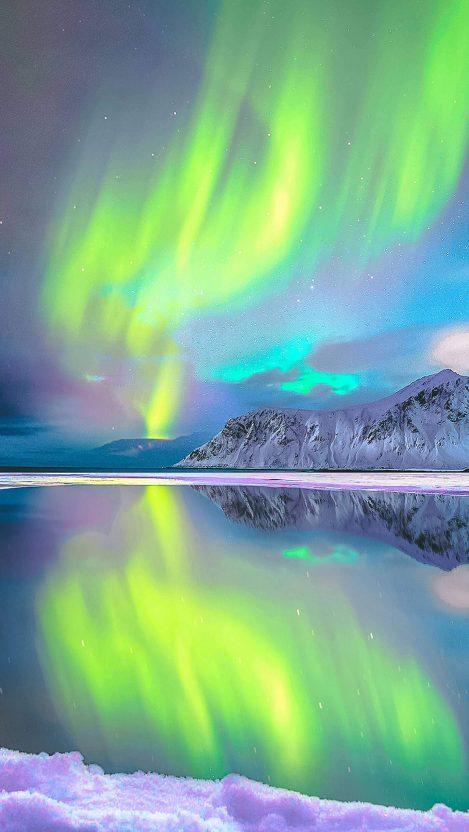 Aurora Borealis Norway iPhone Wallpaper