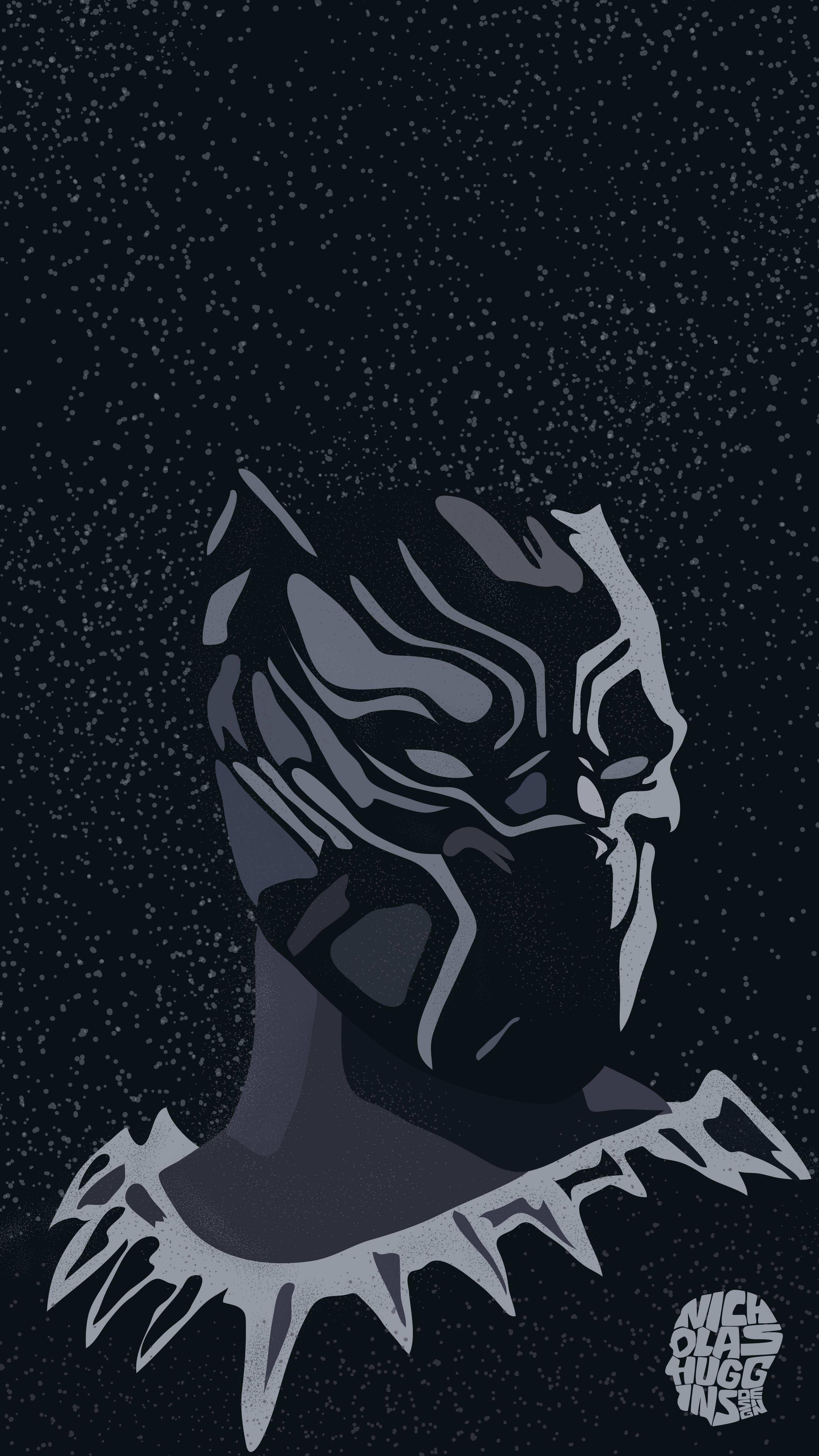 Black Panther Wakanda Art iPhone Wallpaper
