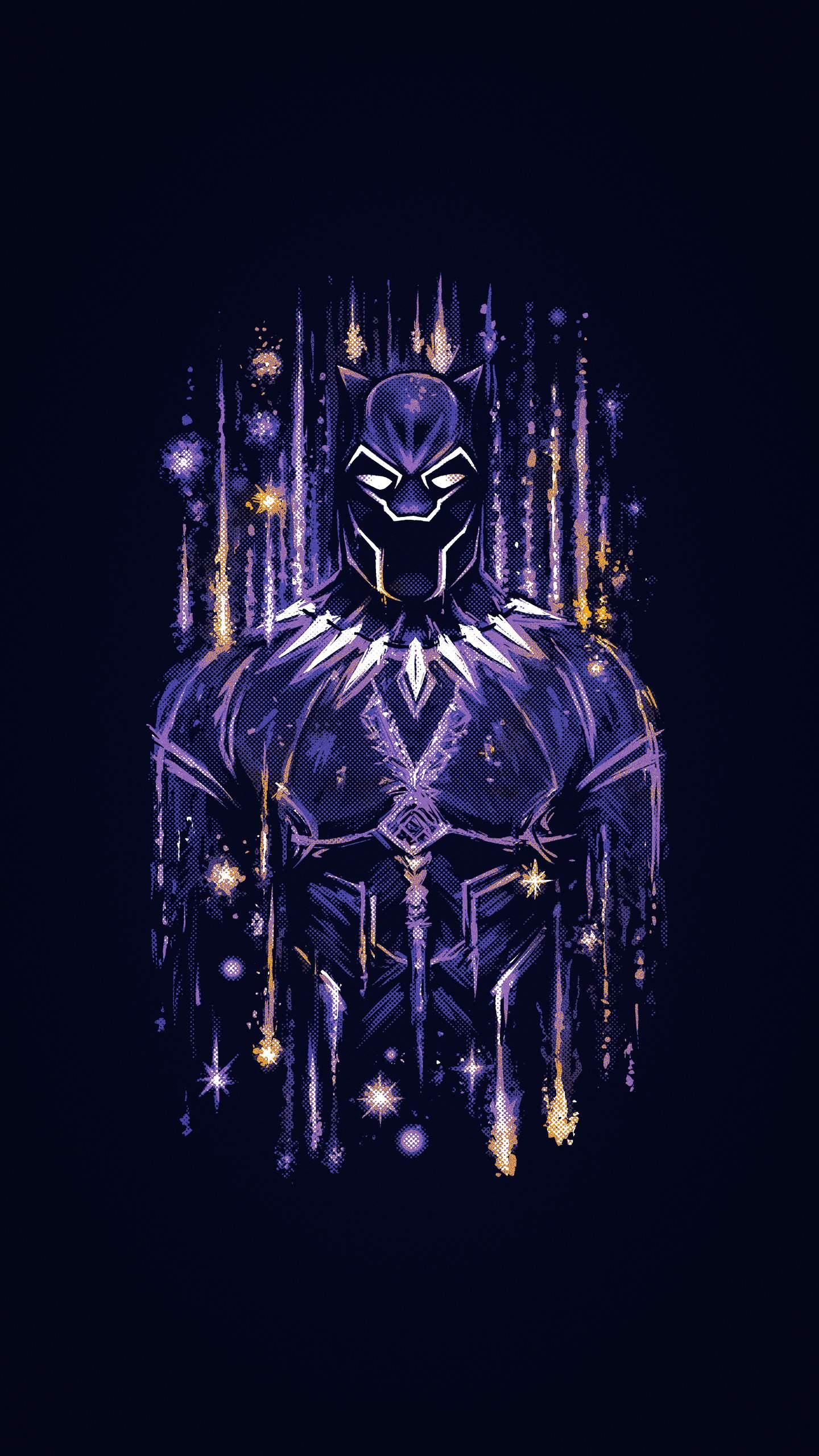 Black Panther Wakanda Artwork iPhone Wallpaper