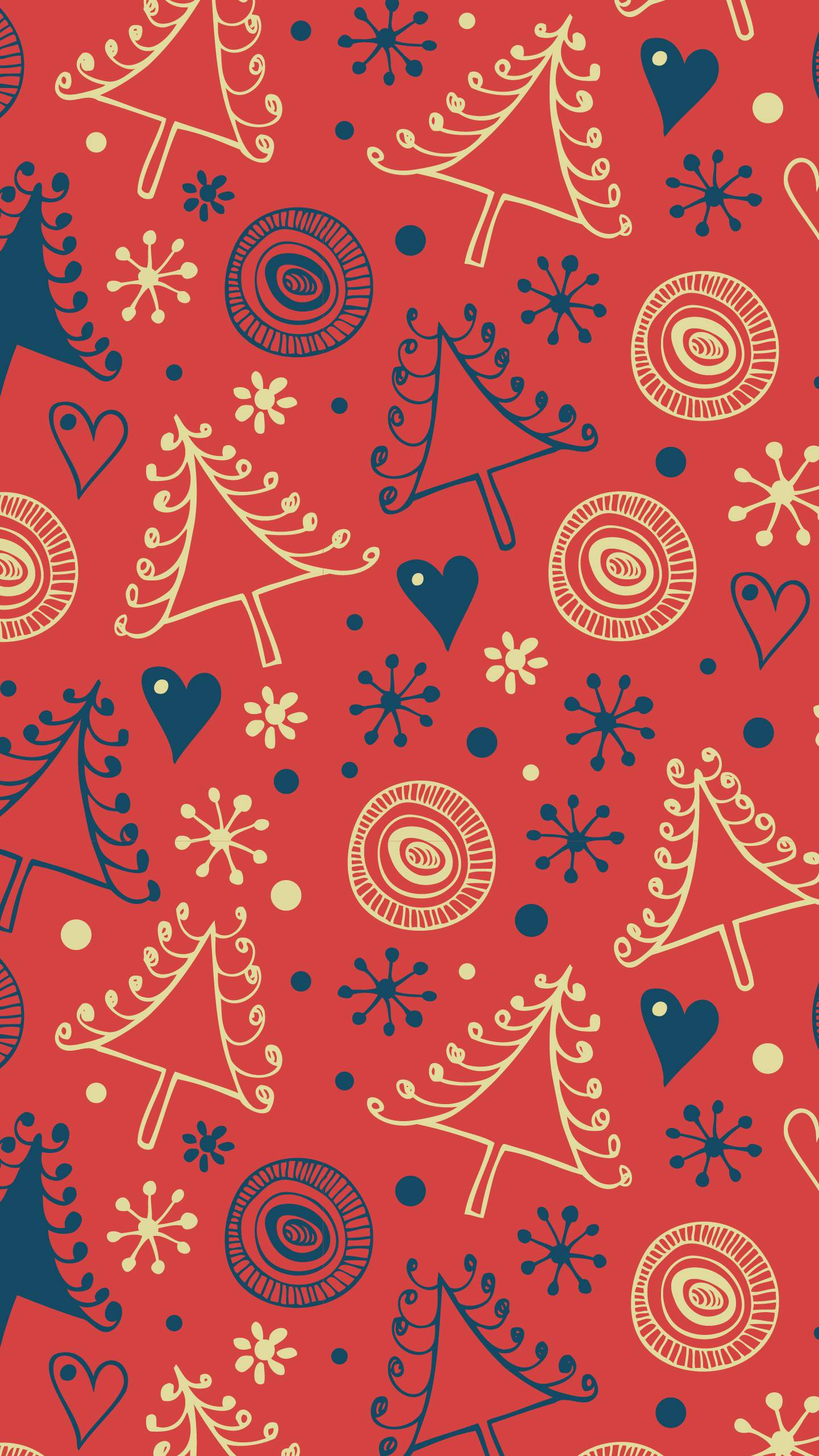 Christmas mess iPhone Wallpaper 1