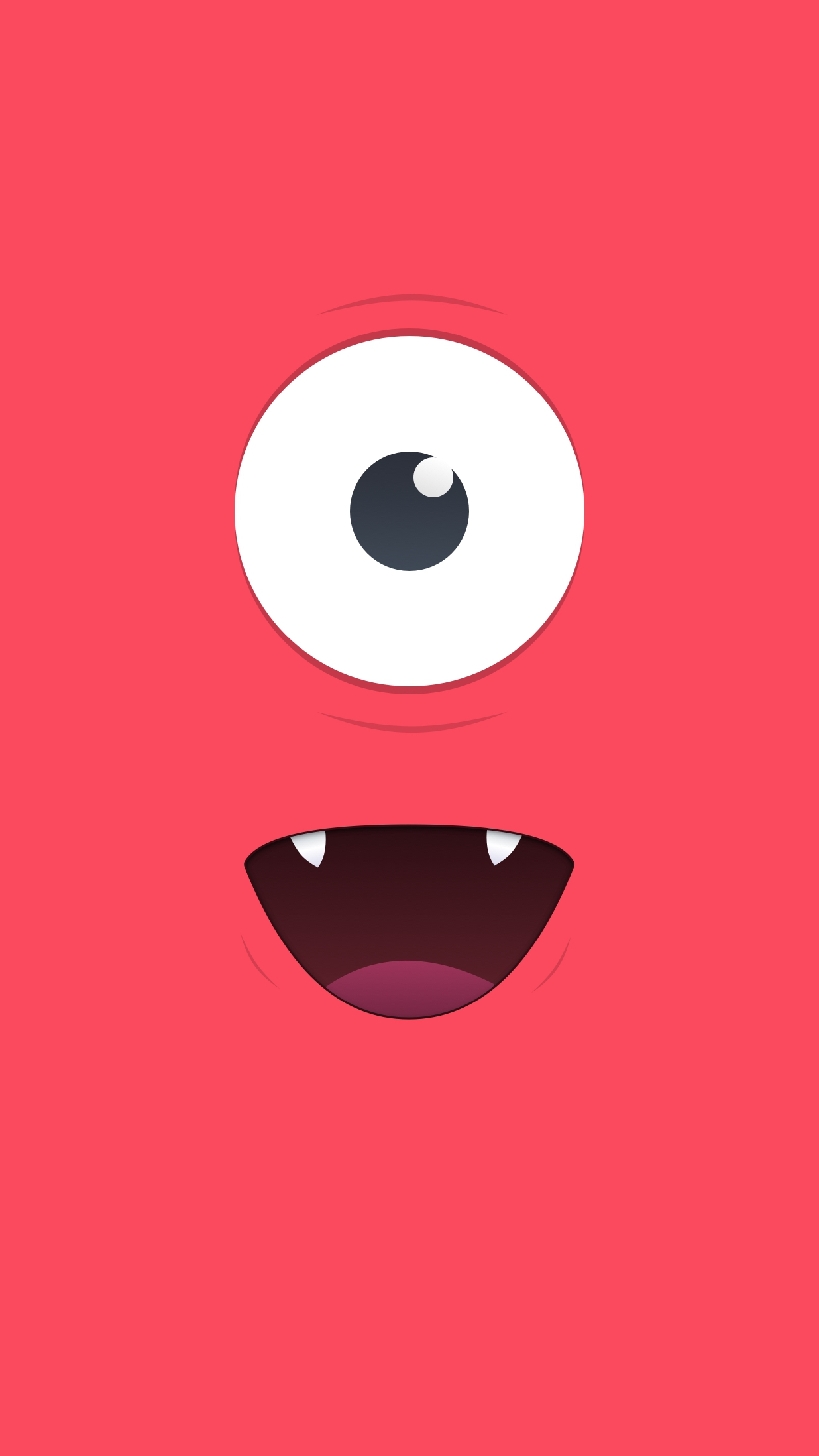 Cute Red Monster iPhone Wallpaper