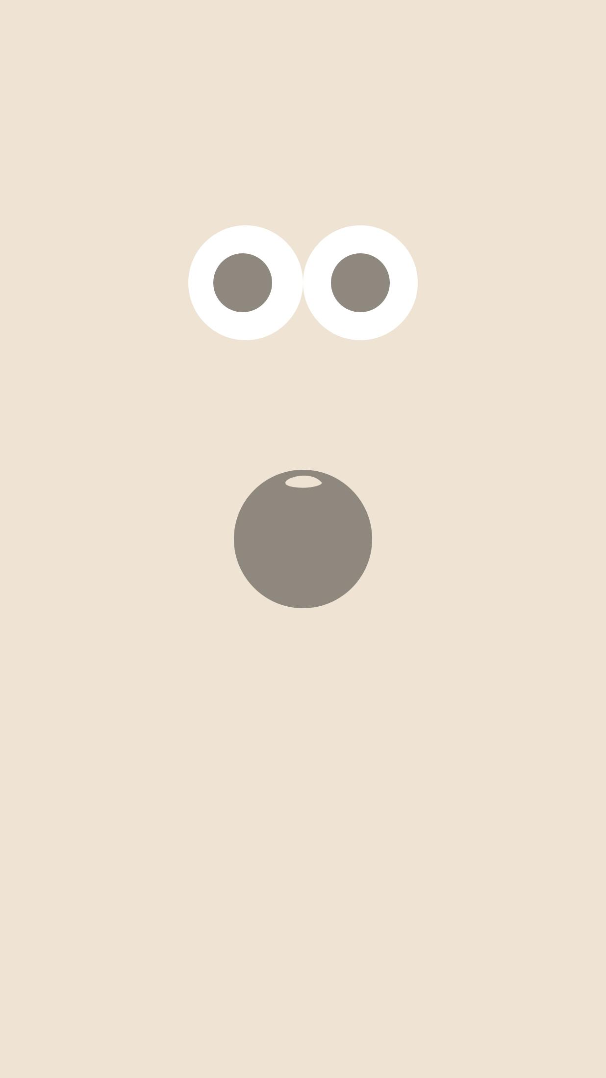 Cute monster minimal iPhone Wallpaper