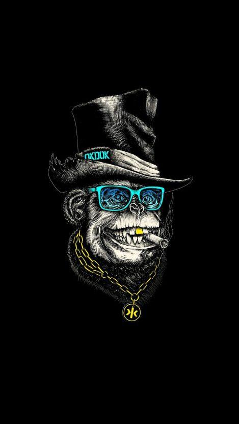 Dope Monkey Hip Hop iPhone Wallpaper