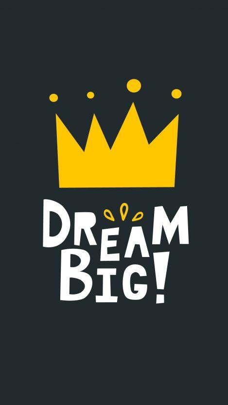 Dream Big Minimal iPhone Wallpaper