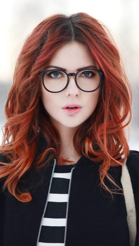 Ebba Zingmark Beautiful Redhead Girl iPhone Wallpaper
