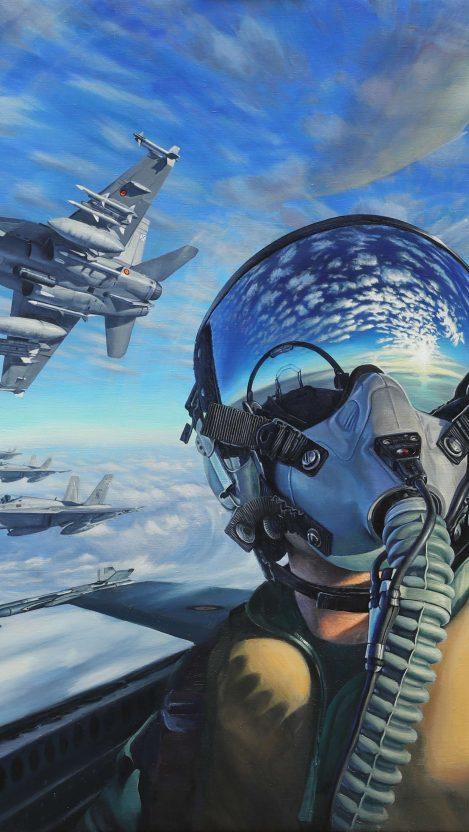 Fighter Jet Pilot iPhone Wallpaper