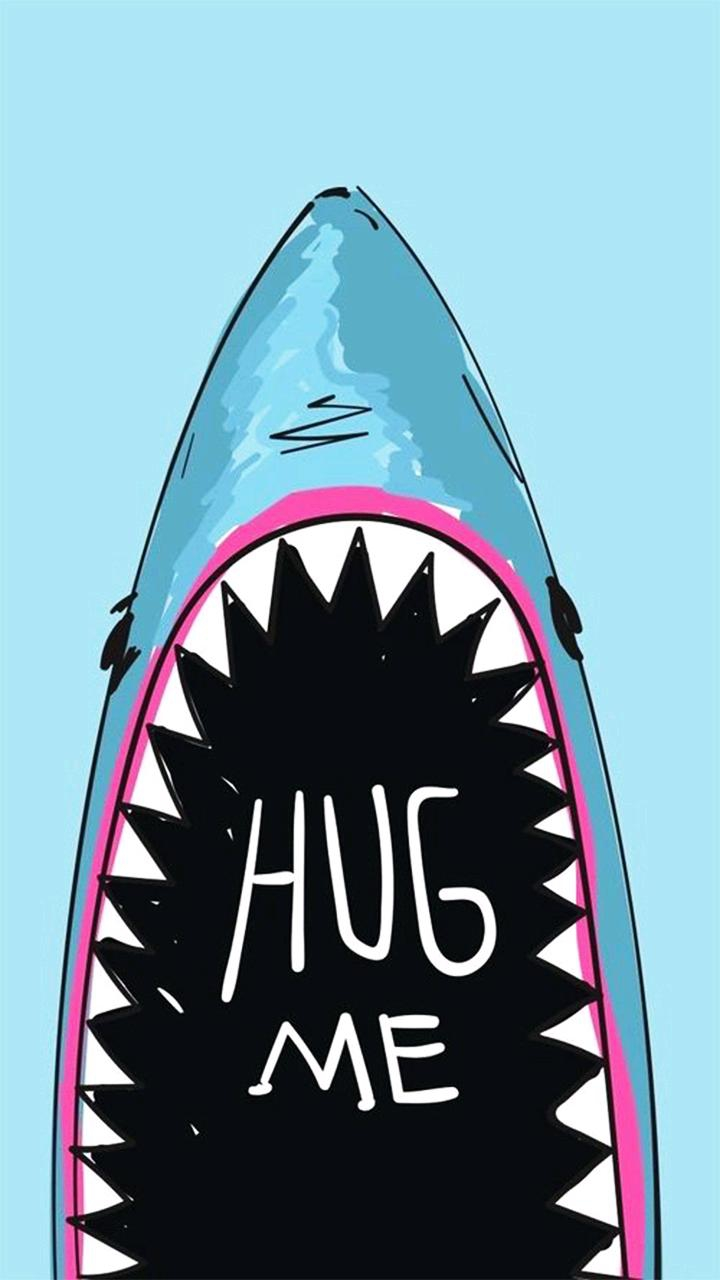 Funny Shark iPhone Wallpaper