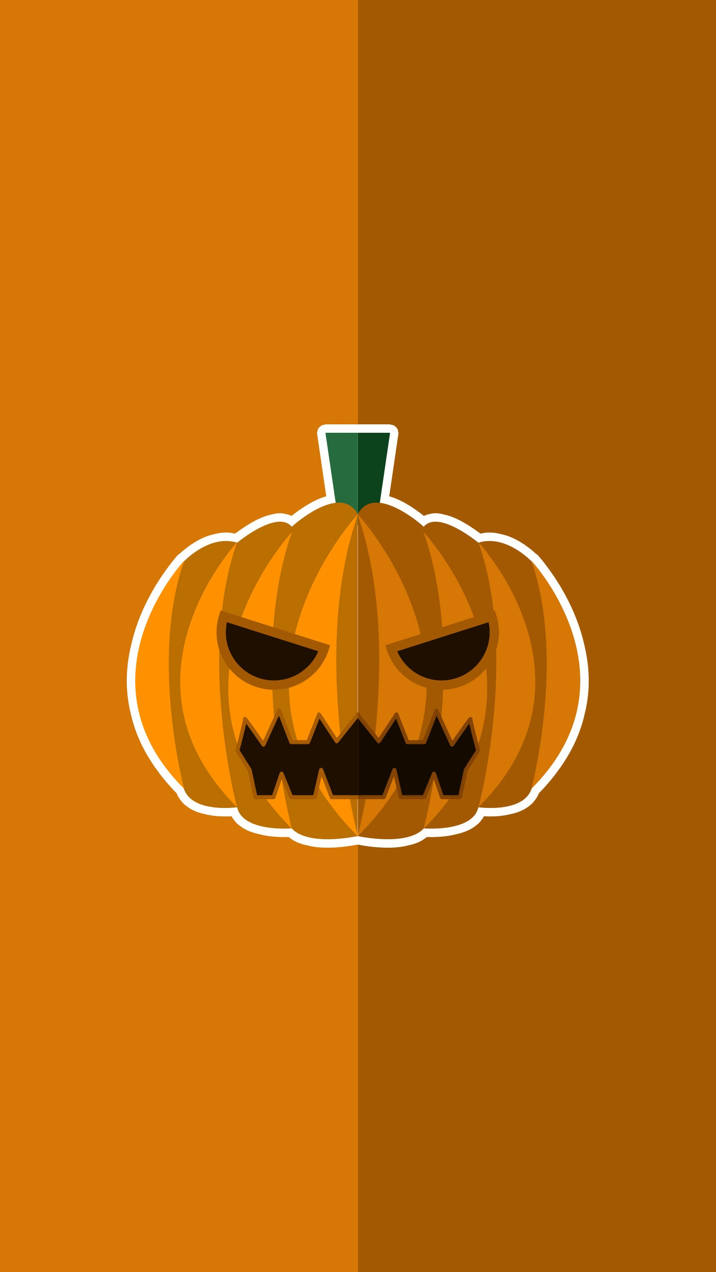 Halloween Pumpkin Minimal iPhone Wallpaper