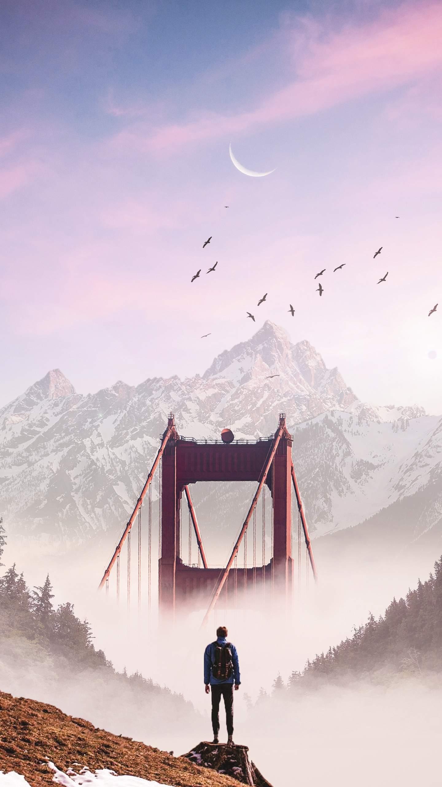 Hidden World Golden Gate Bridge iPhone Wallpaper