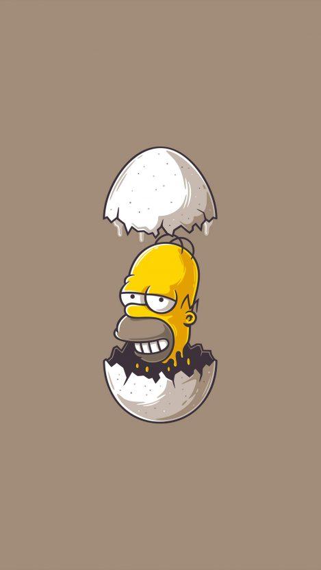 Homer Simpson Minimal iPhone Wallpaper