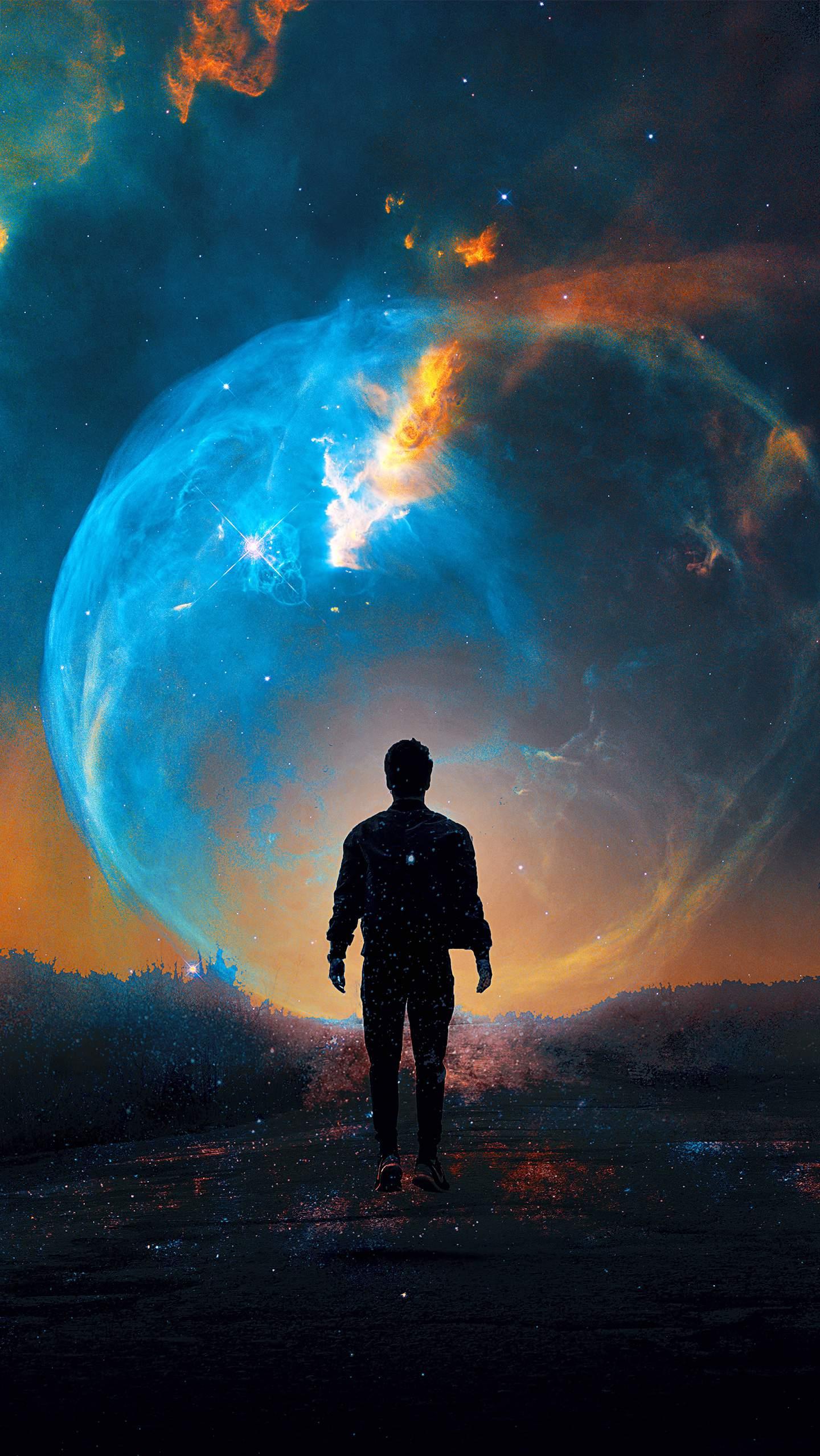 Into the Nebula iPhone Wallpaper