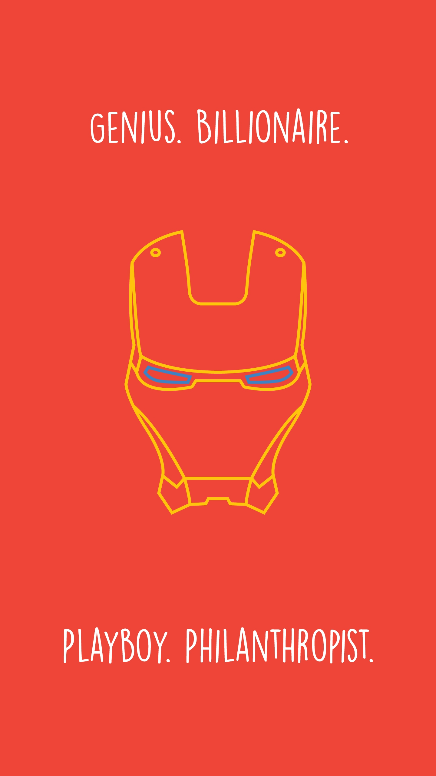 Iron Man Quote Minimal iPhone Wallpaper
