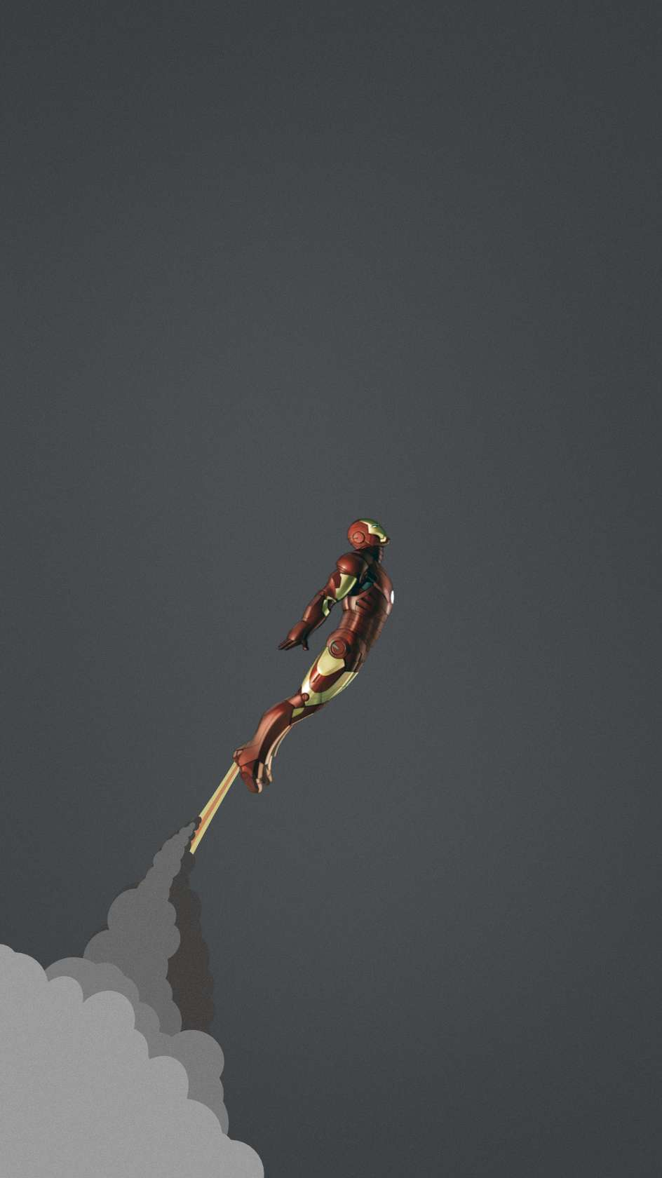 Iron Man Simple Background iPhone Wallpaper