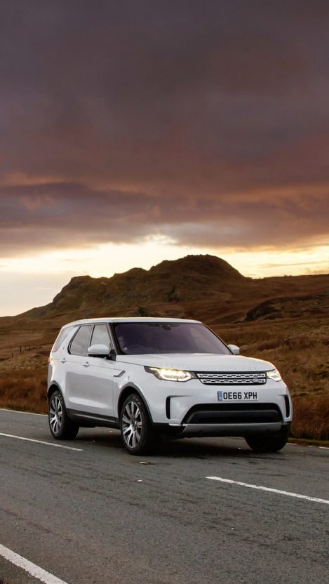 Land rover discovery white iPhone Wallpaper