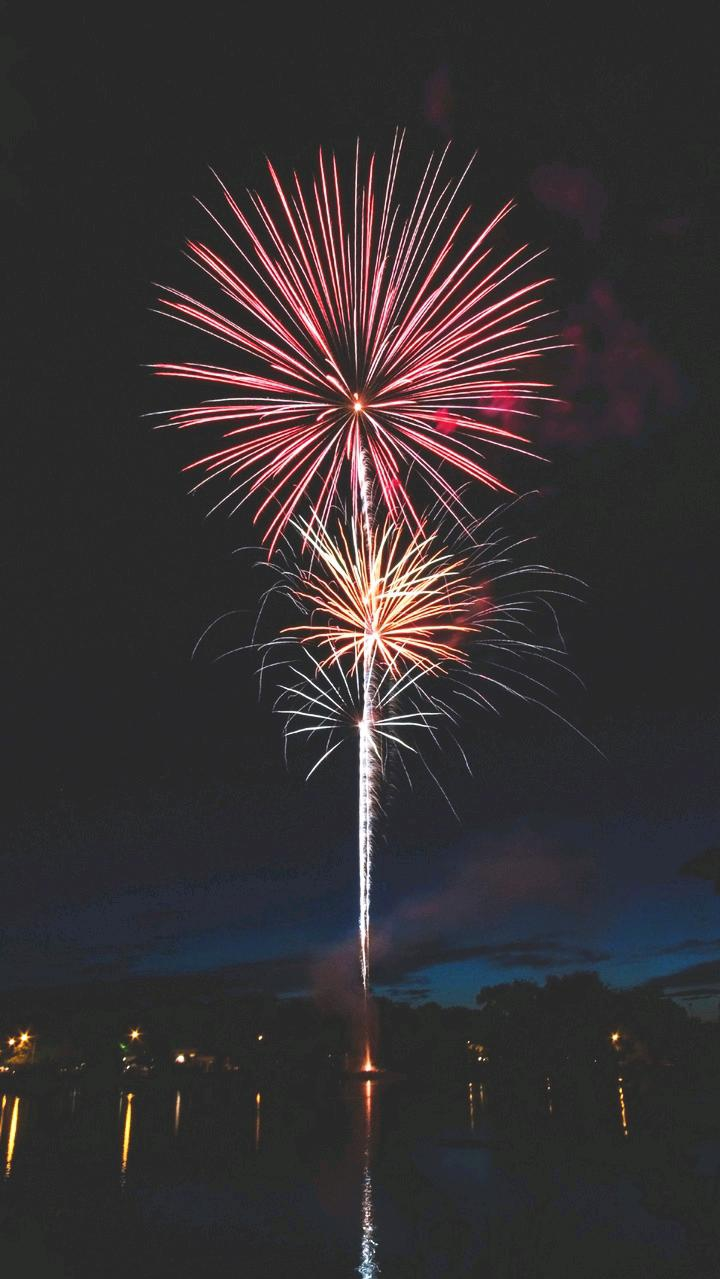 Night Celebration Fireworks iPhone Wallpaper