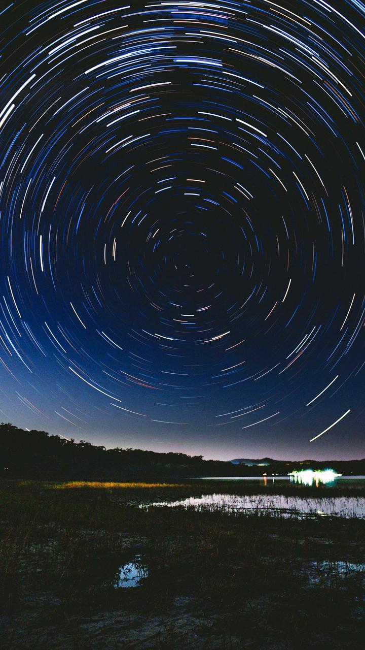 Night Stars Long Exposure iPhone Wallpaper