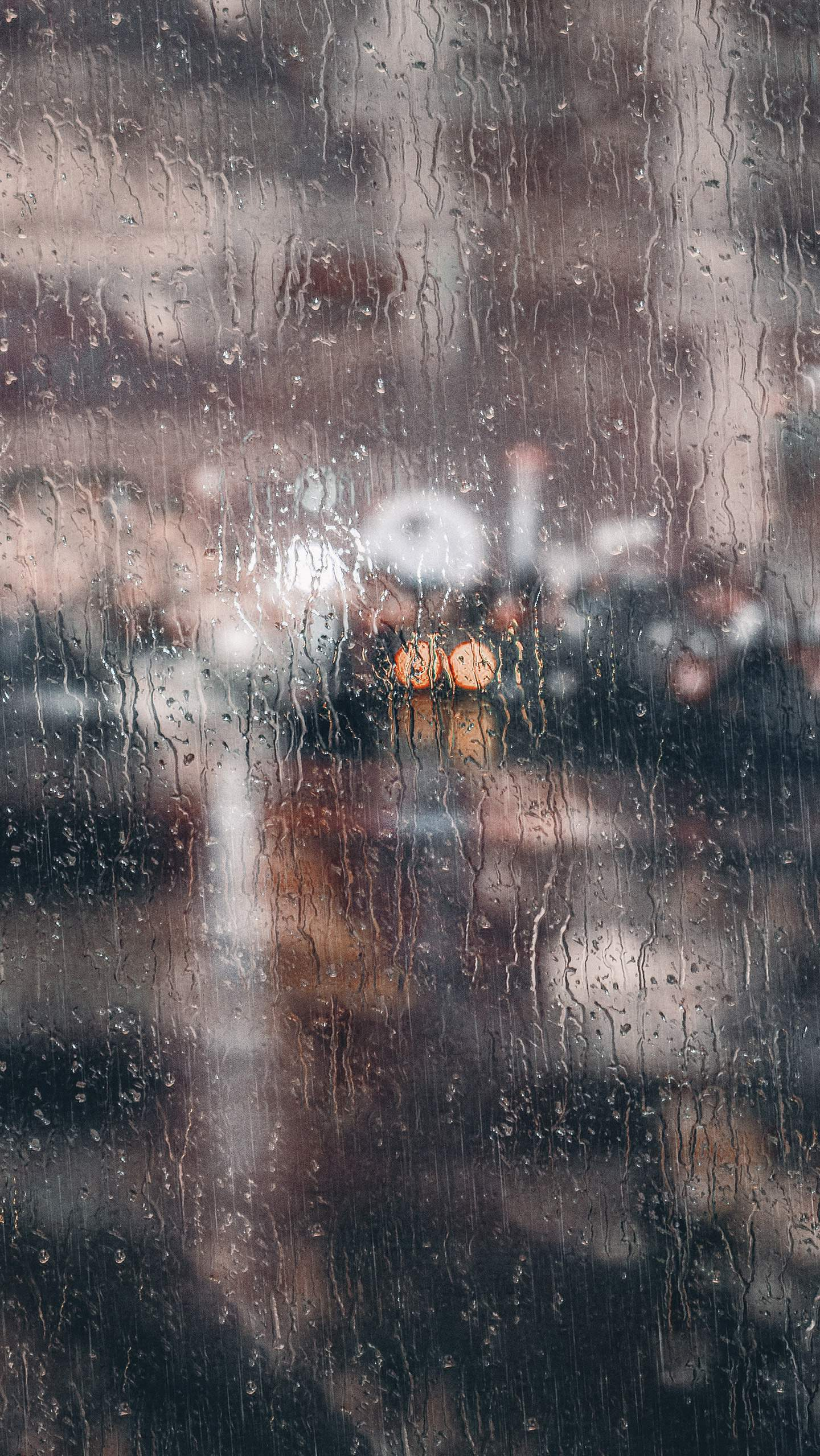 Rain over Glass iPhone Wallpaper