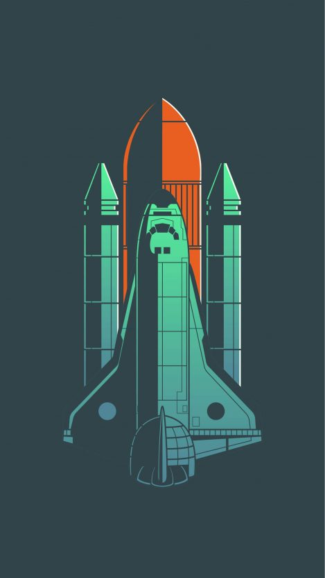 Space Shuttle Discovery Minimal iPhone Wallpaper