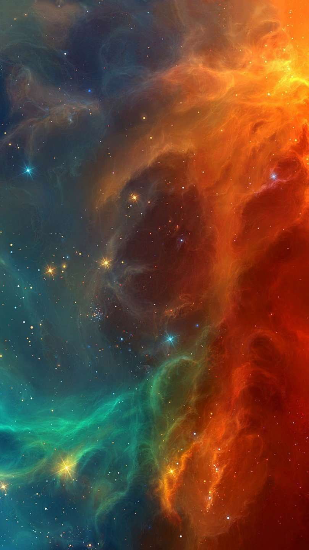 Space Stars Nebula Colors iPhone Wallpaper