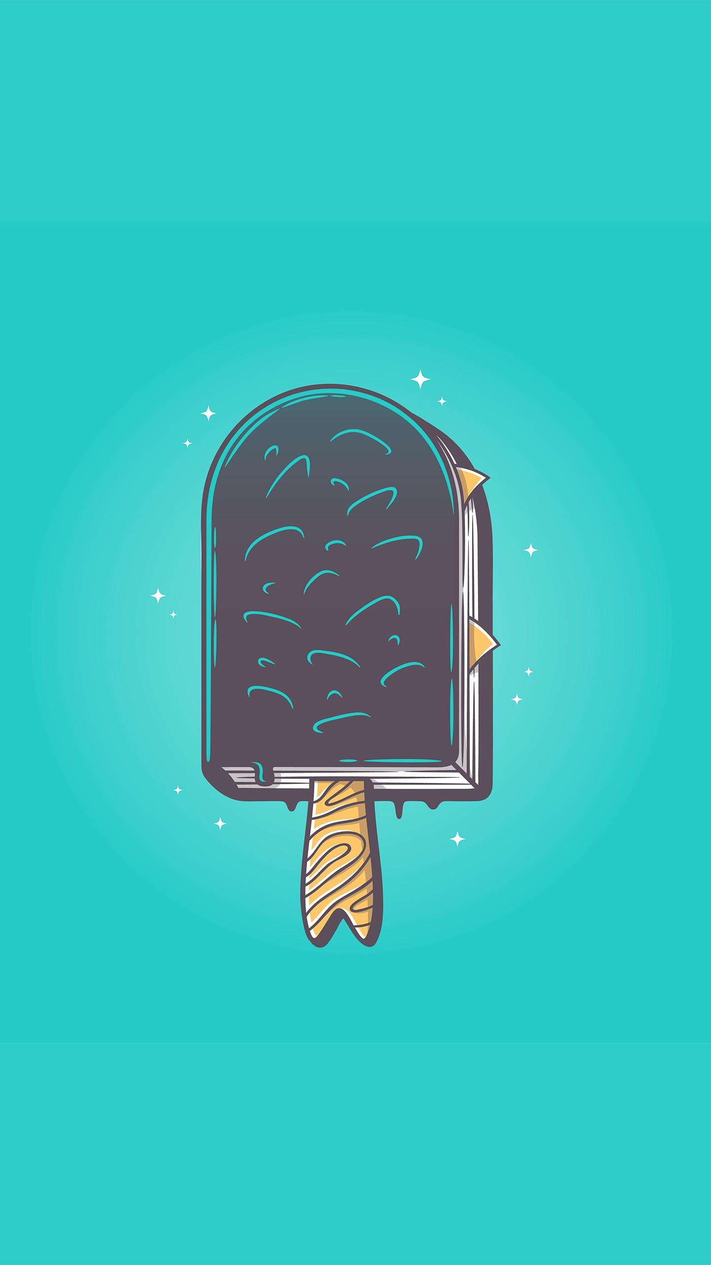 Summer reading Minimal Art iPhone Wallpaper