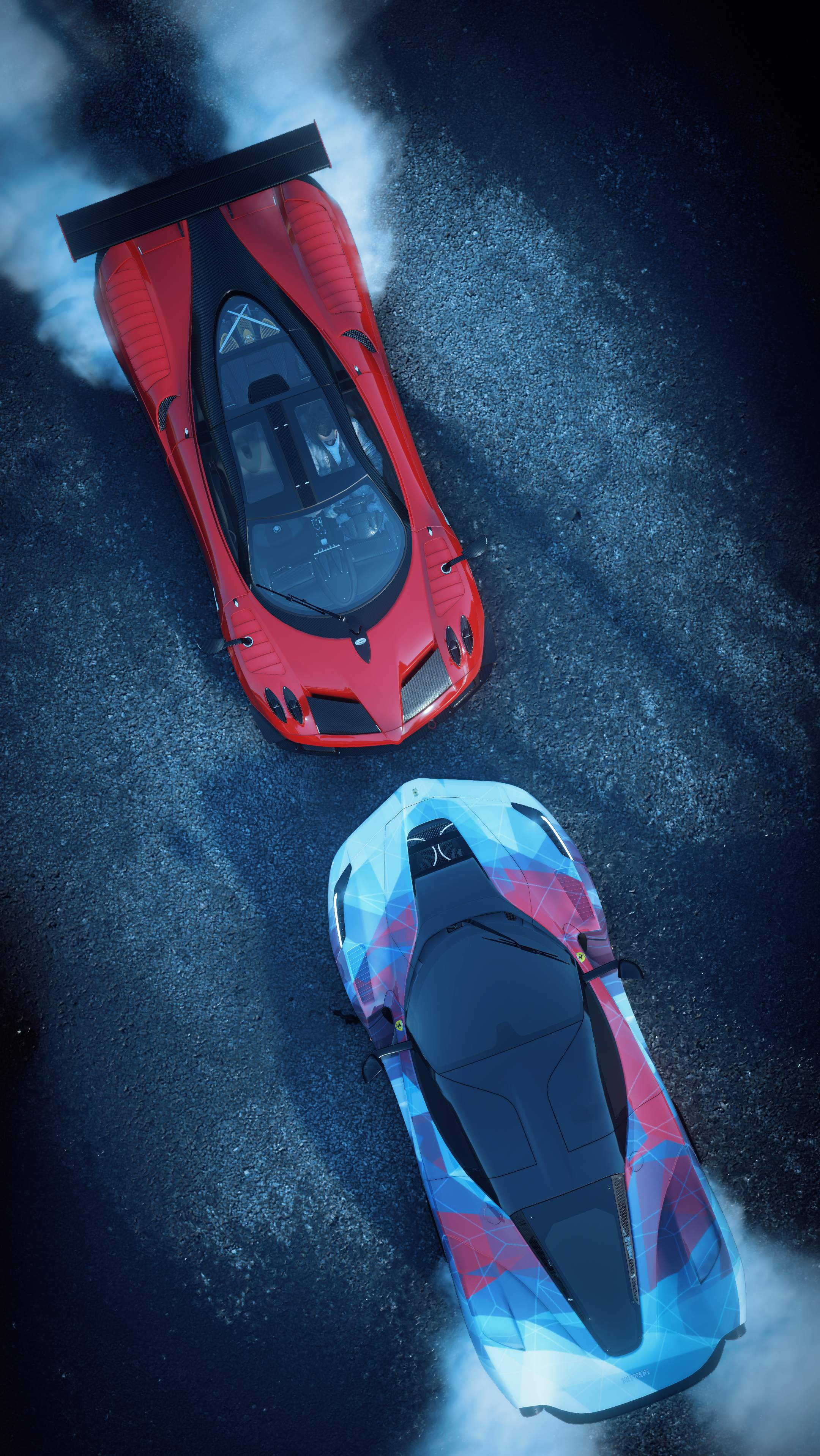 The Crew Game Ferrari Vs Pagani Iphone Wallpaper Iphone