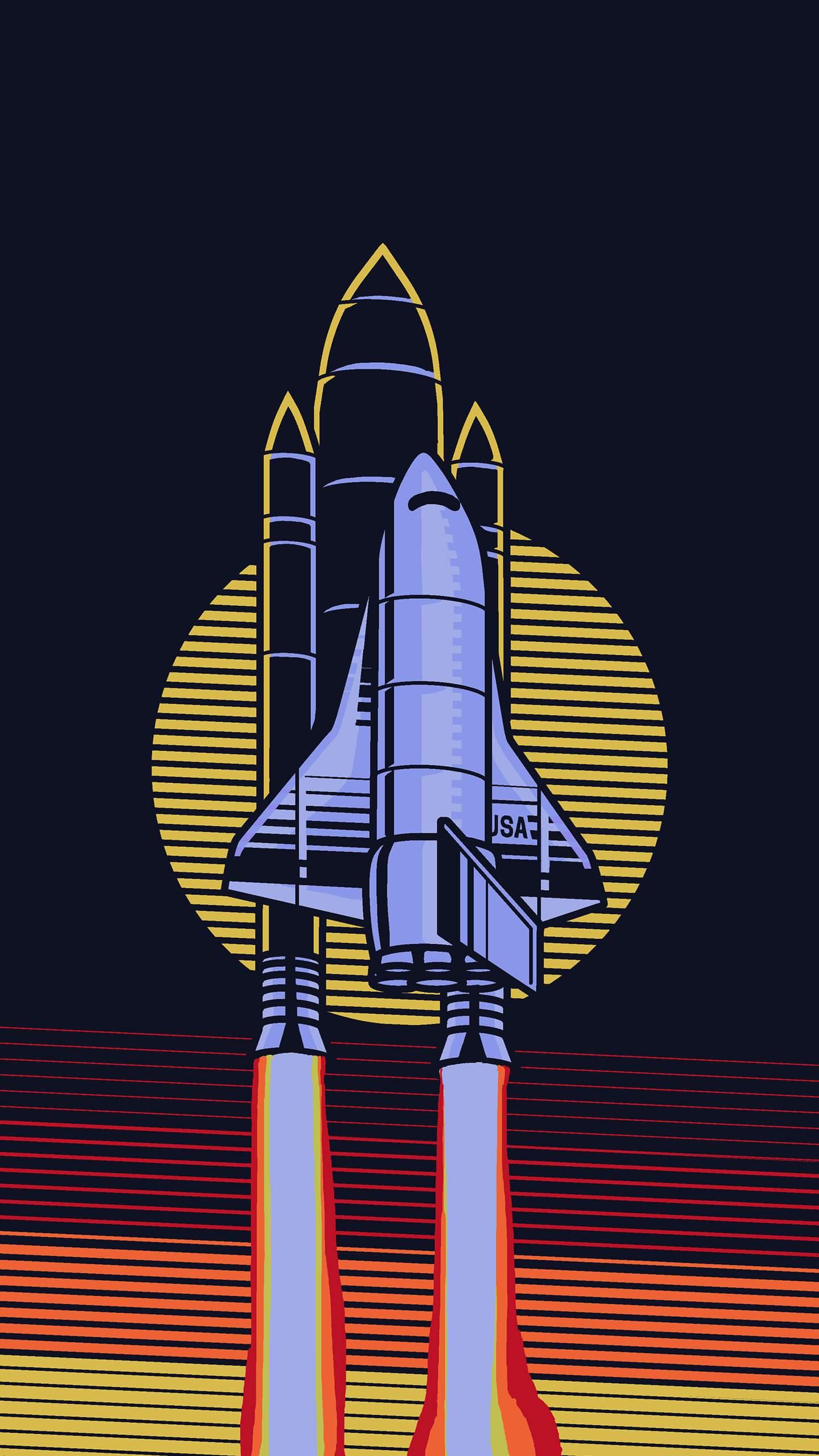 USA Space Shuttle iPhone Wallpaper
