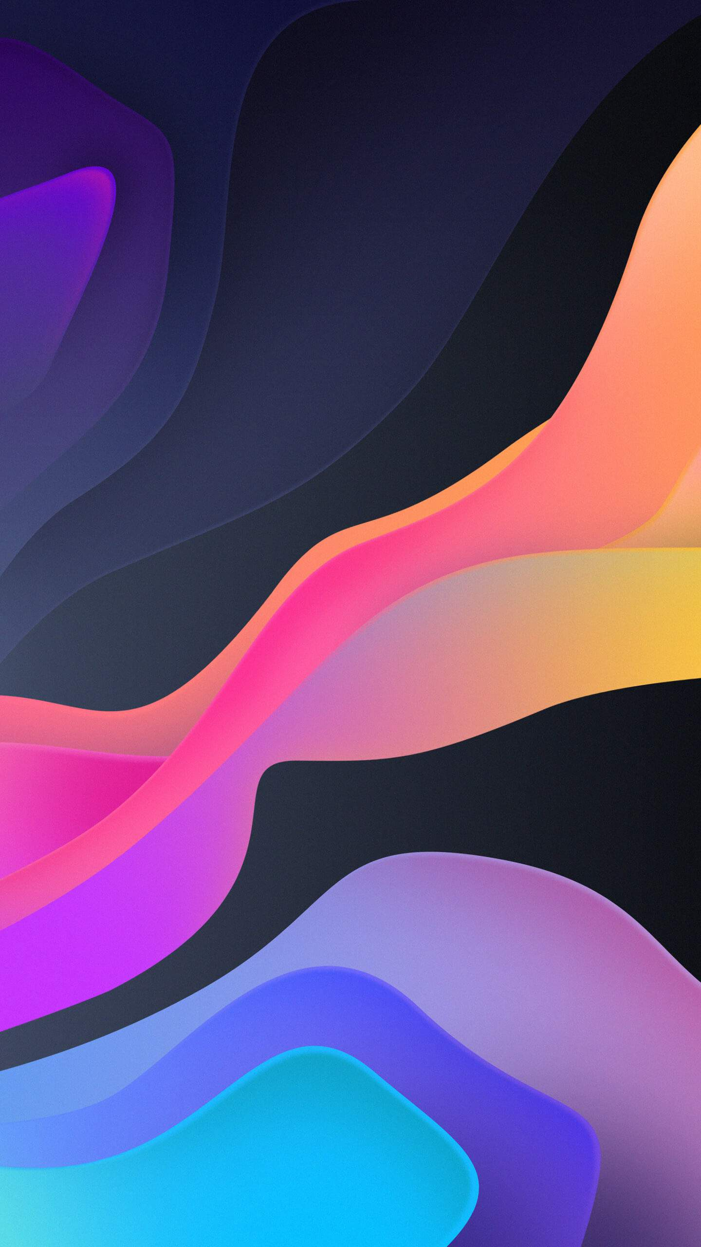 Waves of Color iPhone Wallpaper