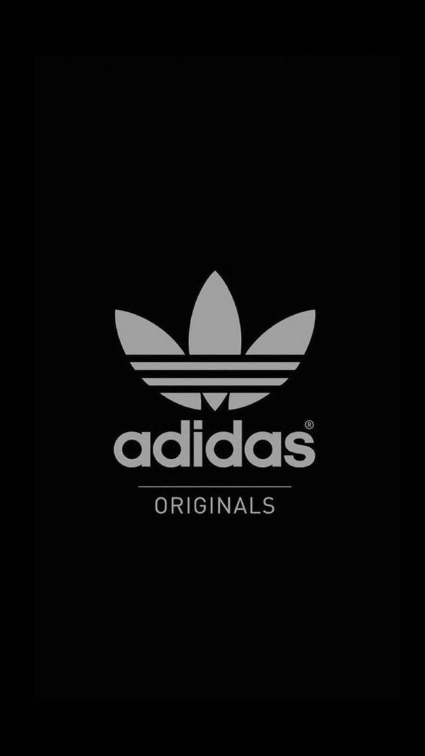 Adidas Originals Black iPhone Wallpaper